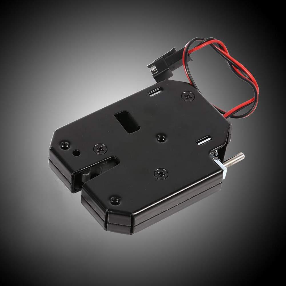 Garosa Elektroschloss Mini 12 V 2A Elektromagnetisch Schublade Schlie/ßf/ächer Intelligente Kohlenstoffstahl Schwarz Latch f/ür Schloss Sicherheitssystem