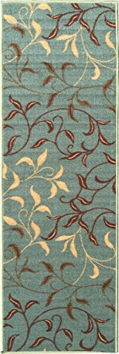 Ottomanson Otto Home Contemporary Leaves Design