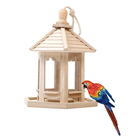 Shiningbaby Jaula de pájaros de Madera Aves pequeñas Loro ...