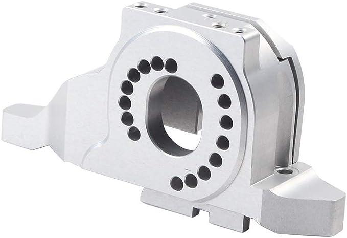 INJORA RC Motor Montaje Disipador Motor Mount Heat Sink RC Accesorios para 1/10 RC Crawler Traxxas TRX4 TRX-4 (Plateado)