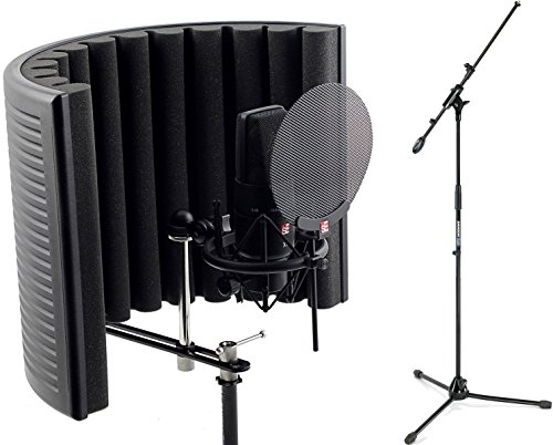 sE Electronics X1 LDC Studio Bundle with Shock Mount, Pop Filter, RF-X Reflexion Filter, and Cable by SE Audio