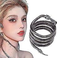 Creative Freedom Snake Necklace, Bendable Snake Necklace Flexible Multi-Purpose Necklace, Punk Snake Necklace