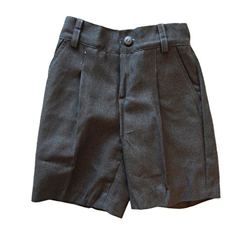 51IjAYDnzRL Pantalón corto gris uniforme escolar Ideal para el uniforme de colegio 65% Poliéster, 35% Viscosa