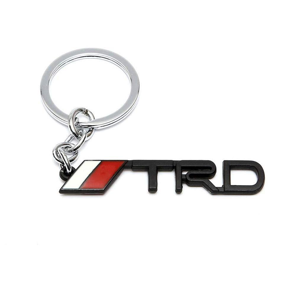 WindCar 1 PC TRD Key Chain Metal Keychain Fob Ring Keychain for Tundra Tacoma Toyota Black-2pcs