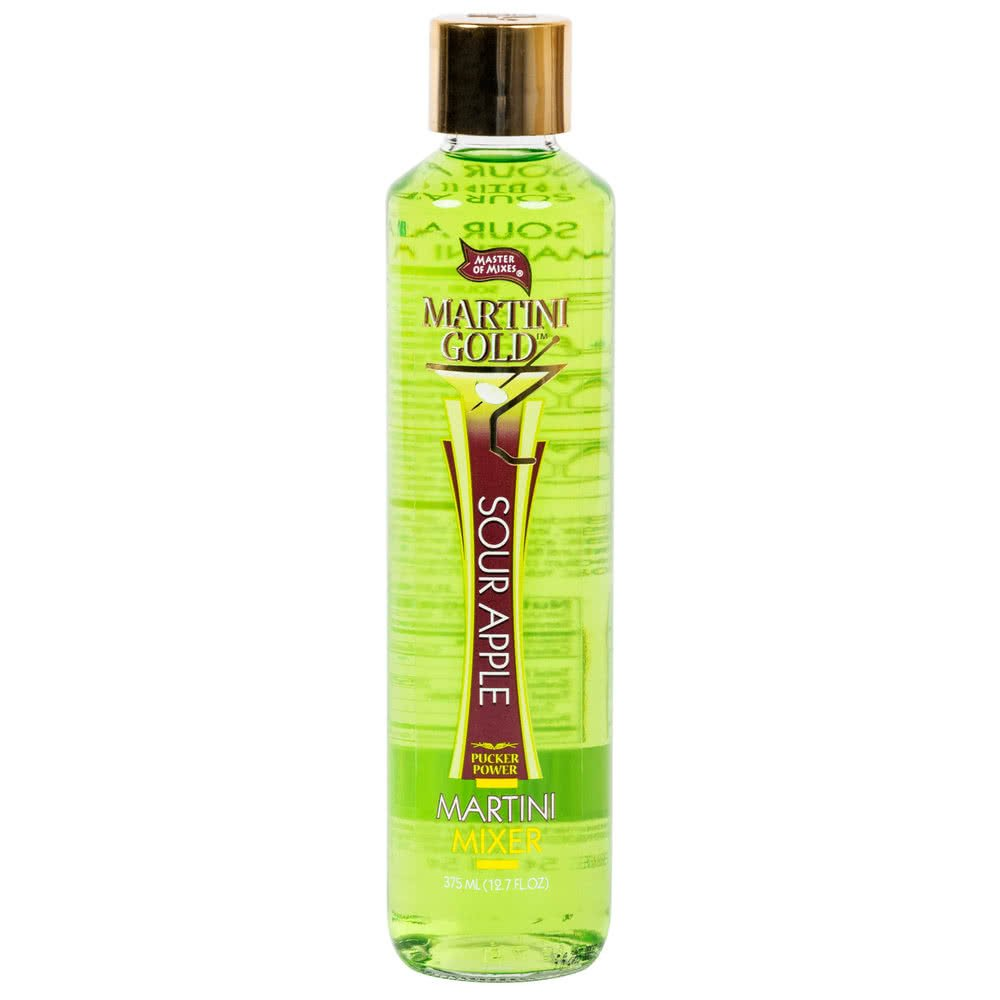 Master of Mixes Martini Gold Sour Apple Martini Mix - 375 mL Bottle Pack of 12
