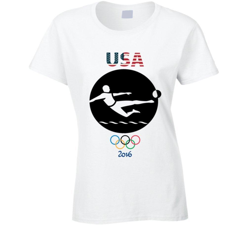 Team USa Soccer Champion Rio 2016 Olympics Athlete Ladies T Shirt