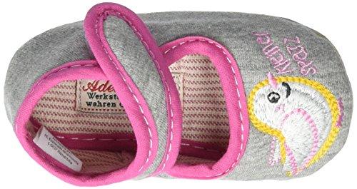 Adelheid Kleiner Spatz Babyschuh - Zapatillas de casa Bebé-Niños Grau (Mausgrau)