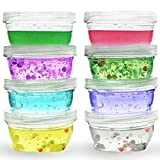6oz plastic jars with lids - Slime Containers: Slime Storage Jars , Bundles Include 6oz Storage Containers for Slime with Lids, Durable Airtight Plastic Clear Containers make an Ideal Slime Storage Organizer (Small Set (6 oz)