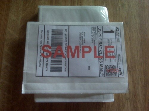 7 X 55 Clear Adhesive Top Loading Packing List Label
