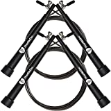 2 Pack PharMeDoc Cardio Jump Rope for Exercise - Adjustable - Extra Steel Cable and Case Included - Speed Rope for Martial Arts Training, Skipping, Boxing, All Training and Cardio Exercises