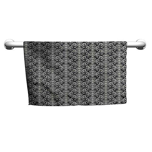 (flybeek Square Towel Victorian,Vintage Floral Motifs,freestanding Towel Racks for Bathroom)
