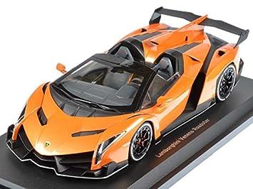 Captivating Lamborghini Veneno Roadster Orange 1/18 By Kyosho 09502 OR