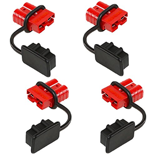 OrionMotorTech 4 Pcs 6-8 Gauge Battery Quick Connect Disconnect Wire Harness Plug Kit for Recovery Winch or Trailer, 12-36V DC, 50A (4 - 8 7 Gauge