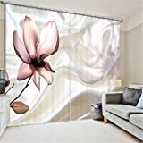 Cheap GFYWZ Curtains Polyester 3D Flowers Stereo vision printing fabrics Blackout Noise Reducing Bedroom Panel Curtain Window Drapes , 4 , wide 150x high 166 (wide 75×2)