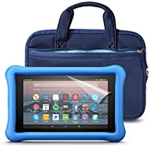 Fire 7 Kids Essentials Bundle with Fire 7 Kids Edition (Blue), NuPro Sleeve (Navy/Blue) and Screen Protector (Clear)
