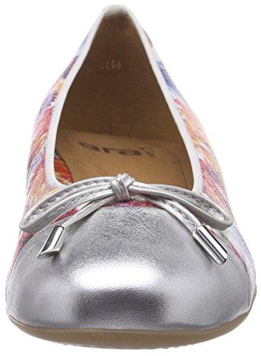 Multi con Ara 06 Punta Bailarinas Ballerinas Cerrada para Mujer Bari Silber Multicolor v1vqFwrZ