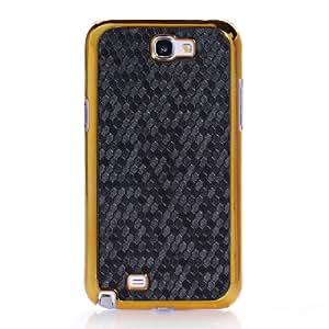 Funda para movil Samsung Galaxy Note 2 N7100 : Color- Borde de Oro y Negro