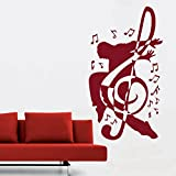 DreamKraft Music Men Wall Decor Art Stickers Vinyl Decals Home Decor for Living Room & Kids bedroom (29X52 Inch)