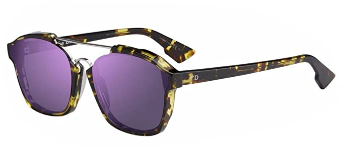 20714e15e7 New Christian Dior ABSTRACT (TVZ 9Z) spotted havana violet mirror  Sunglasses  Amazon.co.uk  Clothing