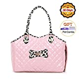 Dog Carrier Purse Pet Travel Bag Cat Portable Handbag,Soft Sided Tote with 2 Fleece Pads for Small Pets,Come with a Pet Comb,Up to 15lbs,Go Traveling Hiking Shopping with Your Doggy (Pink) For Sale