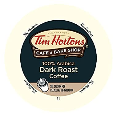 Tim Horton's Single Serve Coffee Cups, Dark Roast, 24 Count