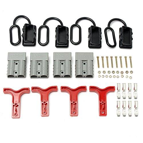 Tutoy 4Pcs 12-24V 50Amp Tapa De Polvo para Conectores De Estilo Anderson Plug Set