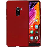 Casotec All Sides Protection '360 Degree' Sleek Rubberised Matte Hard Case Back Cover for Xiaomi Mi Mix 2 - Maroon Red