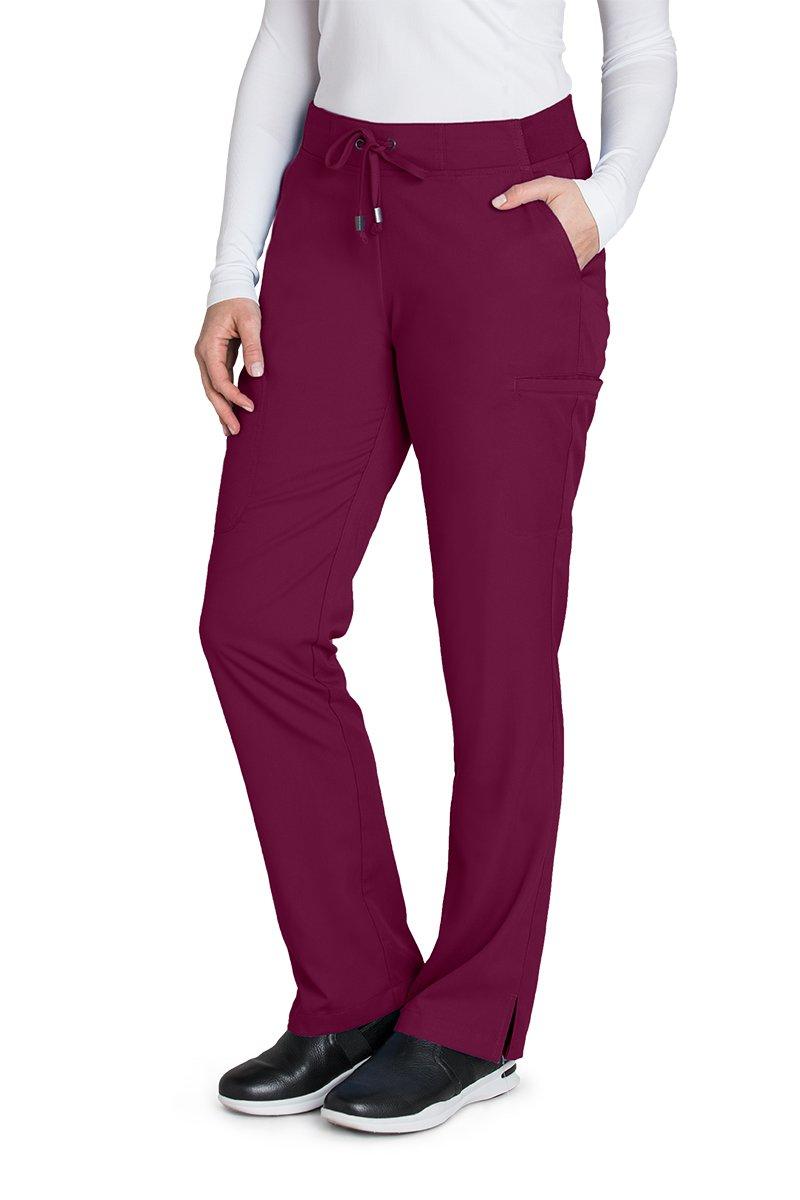 Grey's Anatomy 4277 Straight Leg Pant Wine XXS Petite