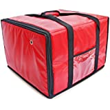 Foodservice Essentials IPDB-618R Insulated Pizza/Food Delivery Bag, Red