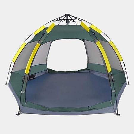 KOREYO Tienda de Campaña Familiar para, Portatil Tienda de Playa for Protección Solar Impermeable Anti UV, Doble Puerta con Bolsa for Aire Libre, Camping, Playa, Aventura (Color : Green): Amazon.es: Hogar