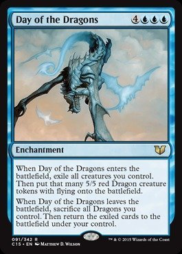 Magic: the Gathering - Day of the Dragons (091/342) - Commander 2015 (Magic The Gathering Blue White Flying Deck)