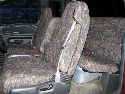 Exact Seat Covers, D1180/D1162 CL-C, 1998-2001 Dodge Ram Quad Cab 1500-3500 Front and Back Seat Set, Conceal Camo Waterproof Endura ()