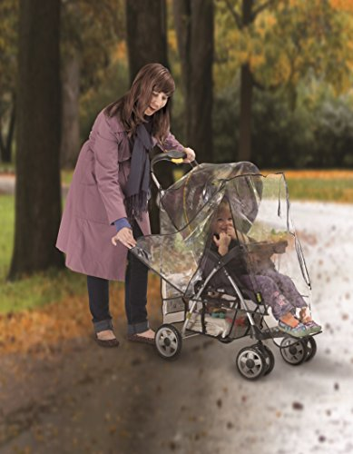 J is for Jeep Deluxe Stroller Weather Shield, Baby Rain Cover, Universal Size, Waterproof, Water Resistant, Windproof, See Thru, Ventilation, Protection, Shade, Umbrella, Pram, Vinyl, Clear, Plastic by Jeep (Image #3)
