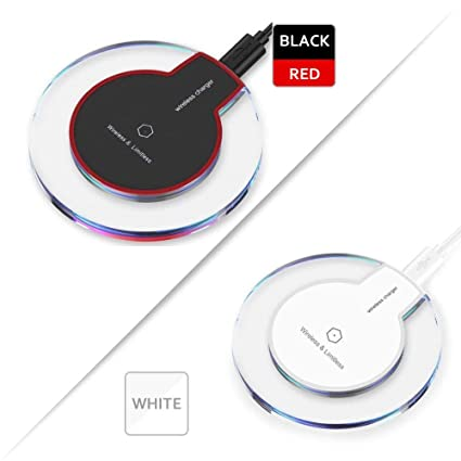 Wireless Charger Pokanic Qi-Certified 2-Pack Charger PAD Compatible with iPhone Xs MAX/XR/XS/X/8/8 Plus, Galaxy Note 9/S9/S9 Plus/Note 8/S8, All ...