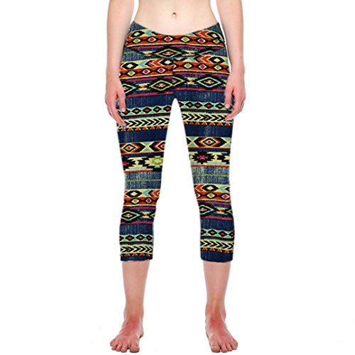 Yoga Pants for Womens, FORUU Fitness Sports Gym Printed Stretch Cropped Leggings
