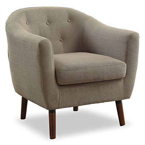 Homelegance Lucille Fabric Upholstered Pub Barrel Chair, Beige