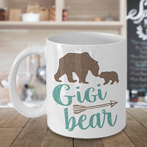 Gigi Bear Mug, Ceramic Coffee Cup, Gift for Grandma, Great Grandmother, 11oz, 15oz, gift (Gifts Awesome Birthday 21st)