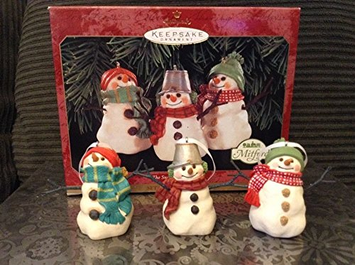 The Snowmen of Mitford Set of 3 Ornaments Hallmark Keepsake 1999