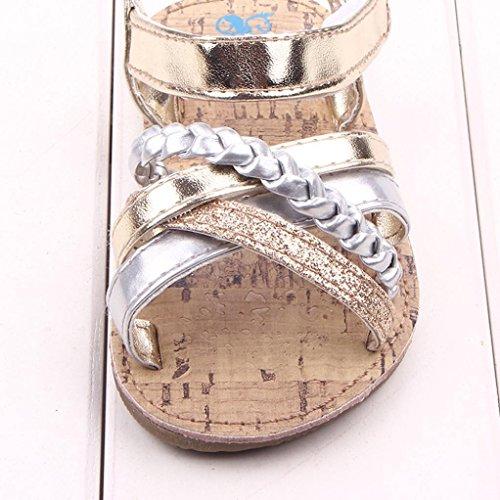 Zapatos de bebé,Xinantime Zapatos primeros caminante Niñas Niños sandalias al aire libre (13, Oro) dorado