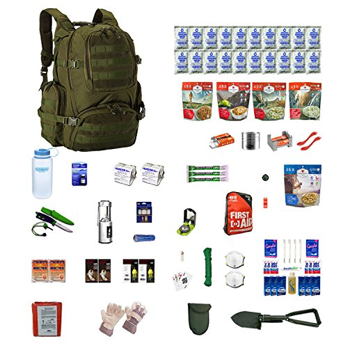 Extreme Deluxe Survival Kit Two For Earthquakes, Hurricanes, Floods, Tornados, Emergency Preparedness by Zippmo Survival Gear