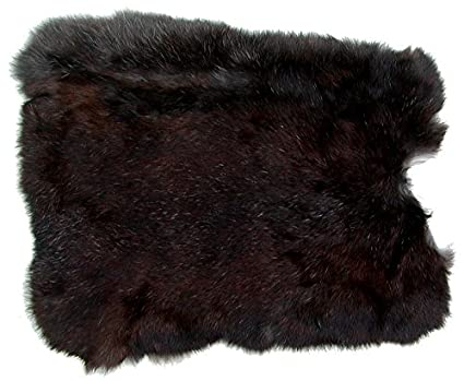 Ensuite Kaninchenfelle schwarz naturfarben, ca. 30x30 cm, Felle vom Kaninchen mit seidigem Haar
