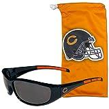 NFL Chicago Bears Adult Sunglass and Bag Set, Orange