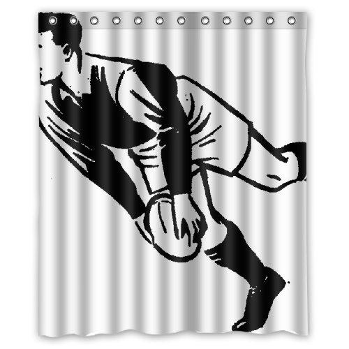 rugby sport Shower Curtain 60 x 72 Inch Bathroom