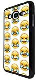 2084 - Cool Funny Emoji Collage LMFAO Crying With Laughter Design For Samsung Galaxy J3 2016 SM-J320F Fashion Trend CASE Back COVER Plastic&Thin Metal - Black