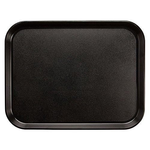 (Cambro Camwear Black Polycarbonate Nonskid Tray - 20