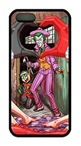iCustomonline Case for iPhone 5S (TPU), Joker and Harley Quinn Ultimate Protection Case for iPhone 5S (TPU)