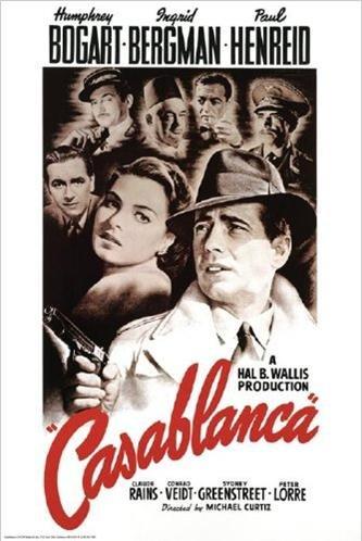 Bergman Movie Poster - Casablanca Movie Poster - Humphrey Bogart Ingrid Bergman Paul Henreid 24