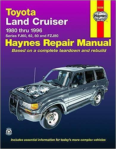 toyota land cruiser fj60, 62,80 & fzj80, '80'96 (haynes repair manuals) 1st  edition