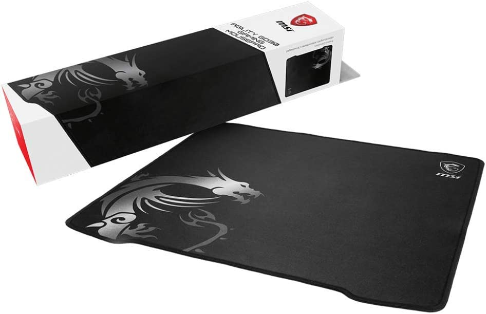 MSI Ultra-Smooth Low-Friction Textile Surface Natural Rubber Base Extra Soft Comfortable Touch Anti-Slip Gaming Mouse Pad (Agility GD30)