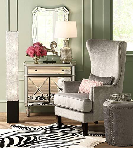 Modern Floor Lamp Noir Black Column Textured Clear Acrylic Rectangular for Living Room Bedroom Office - 360 Lighting by 360 Lighting (Image #2)